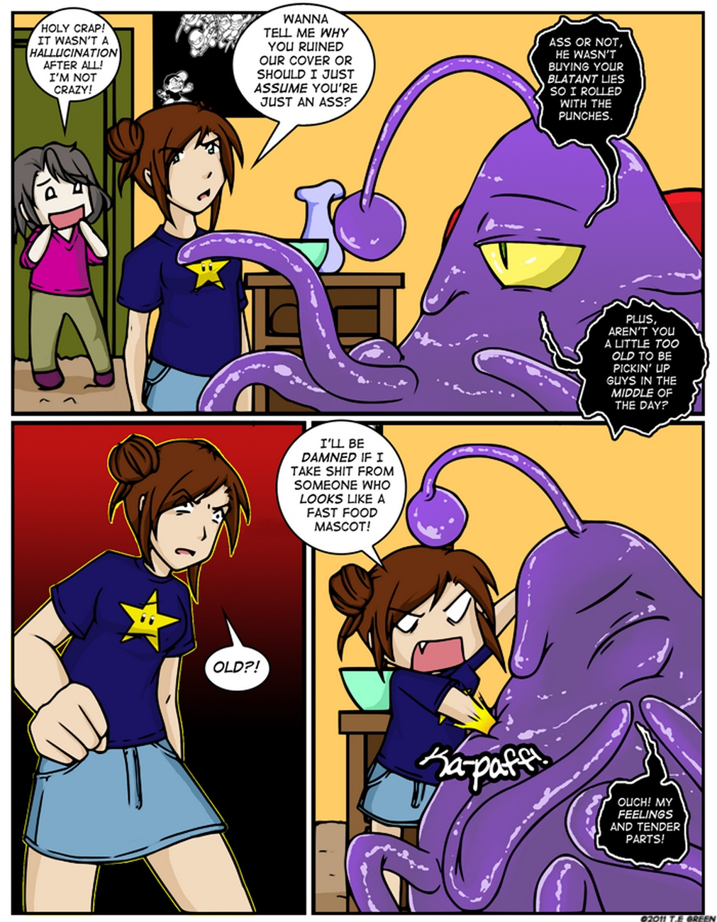 Alien Tentacle Porn Cartoon Comic a date with a tentacle monster 3 - tentacle hospitality