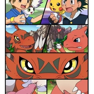 Digimon vs Pokemon Porn Comic 002