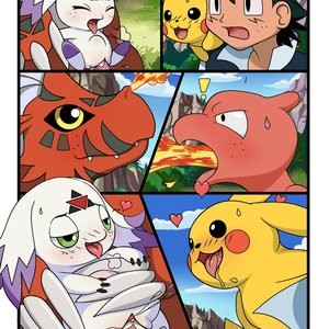 Digimon vs Pokemon Porn Comic 003