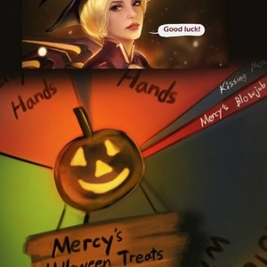 Halloween Party With Mercy Porn Comic 002