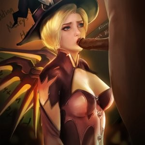 Halloween Party With Mercy Porn Comic 007