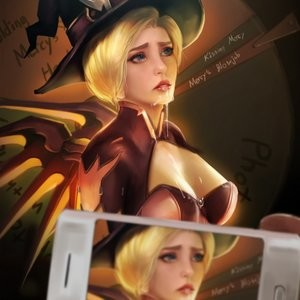Halloween Party With Mercy Porn Comic 009
