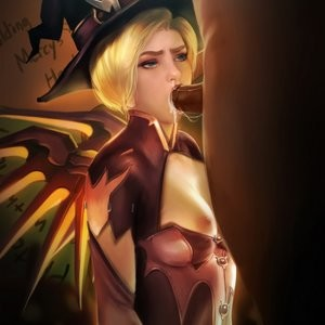 Halloween Party With Mercy Porn Comic 013