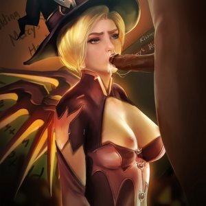 Halloween Party With Mercy Porn Comic 014