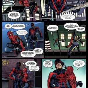 Like Spider-Father, Like Spider-Daughters Porn Comic 003