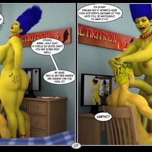 Marge's Big Secret Porn Comic 008