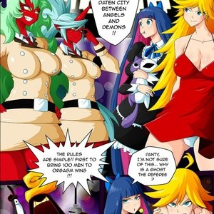 Panty & Stocking Angels vs Demons Porn Comic 002