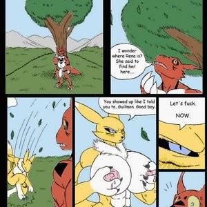 Pent Up - A Digimon Smut Comic Porn Comic 002