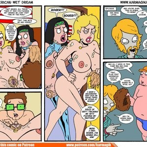 The American Wet Dream Porn Comic