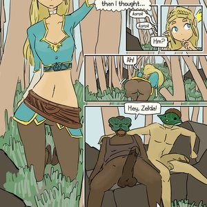 Porn Comics - Two Koroks Fuck Zelda Cartoon Porn Comic